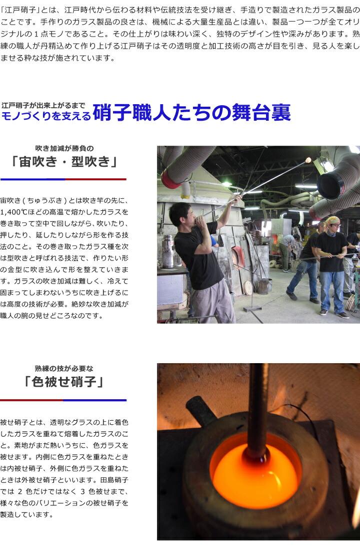 富士山祝盃が出来上がるまでガラス職人たちの舞台裏