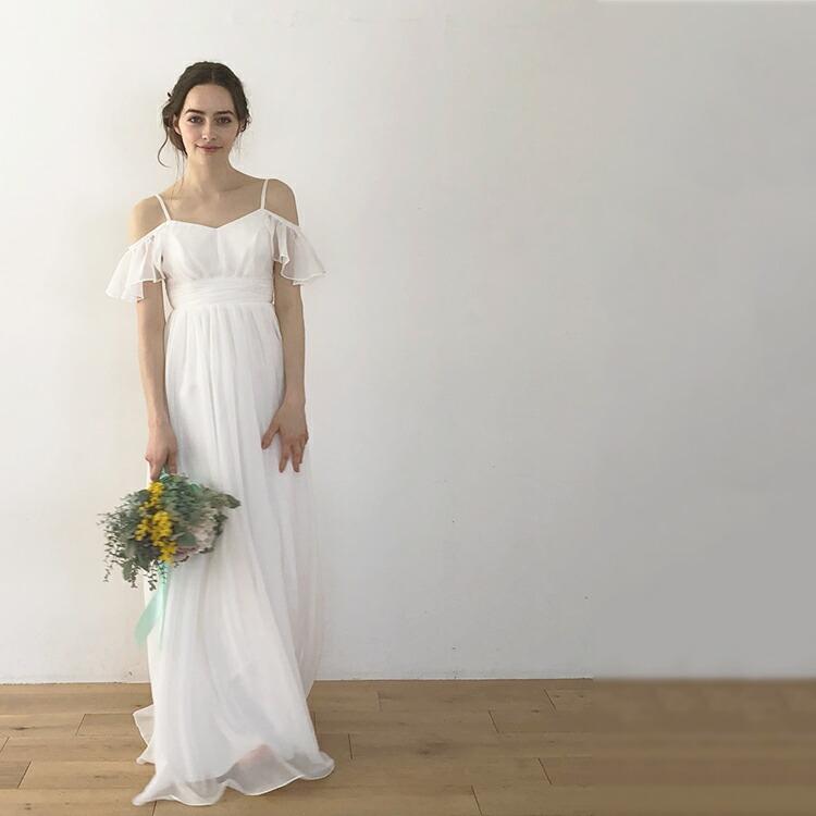 楽天市場 ウエディングドレス エンパイア 二次会 花嫁 ドレス 花嫁