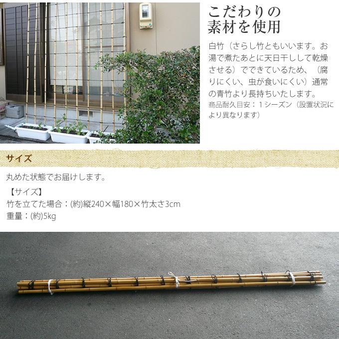 晒し竹 グリーンカーテン 240(8尺×6尺)