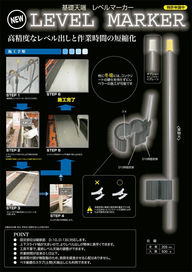 基礎天端レベルマーカー メイン紹介文イメージ