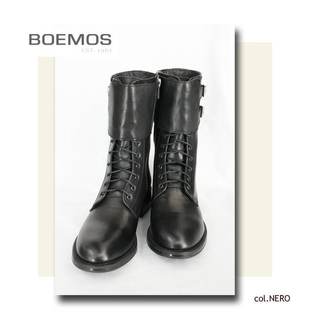 BOEMOS(ボエモス) レースアップ レザーブーツ