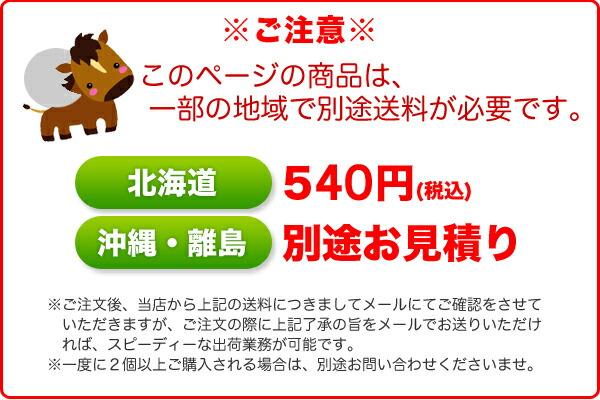北海道:500円+税、沖縄・離島:別途送料かかります。