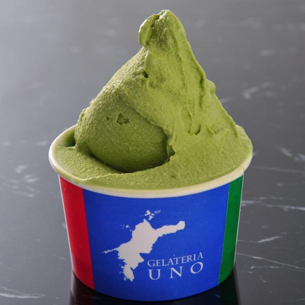 愛媛県久万高原町産美川抹茶で作った抹茶 ジェラート アイスクリーム