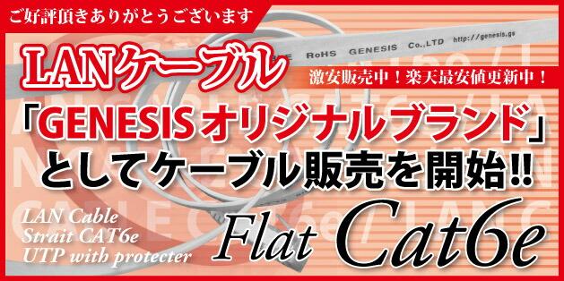 cat6eフラットLANケーブル