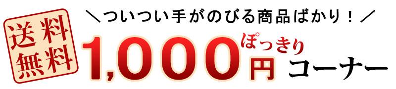 1,000円ぽっきりコーナー