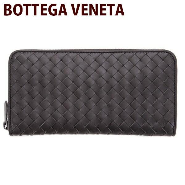 ボッテガヴェネタ BOTTEGA VENETA 財布 長財布 メンズ ラウンドファスナー ブラウン 114076 V4651 2006