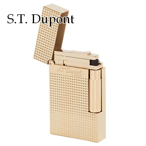 エステー デュポン S.T.Dupont ライター メンズ 喫煙具 LIGNE2 ライン2 ダイアモンドヘッドカット パラディウムフィニッシュ ゴールド 16284