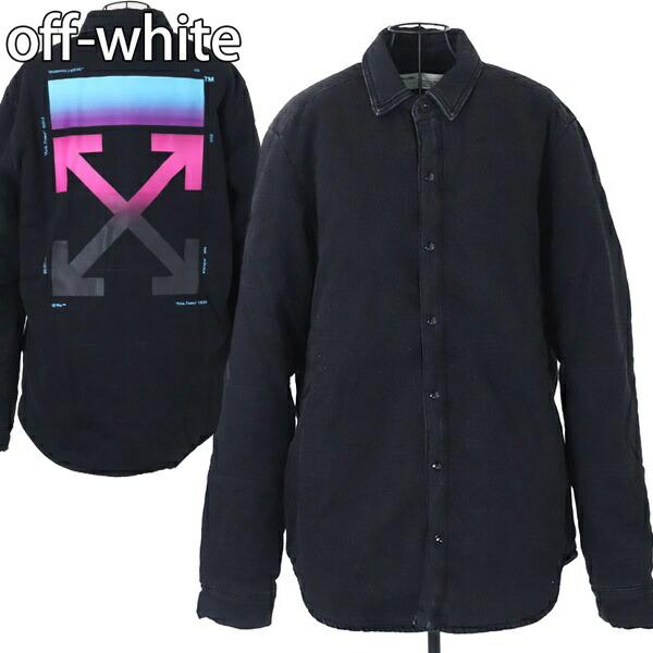 オフホワイト OFF-WHITE シャツ ジャケット メンズ シャツジャケット ブラック【OFF WHITE 大きいサイズ 男性 DENIM PUFFER SHIRT ヴァージルアブロー 新品 正規品 セール】