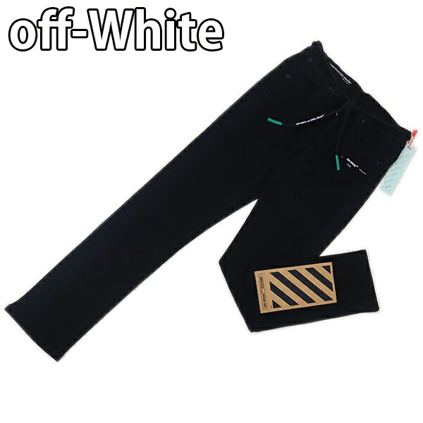 オフホワイト Off-White パンツ デニム ジーンズ FLEECE SIDE PANEL JEANS BLACK NO COLOR OMYA025R19C340211000