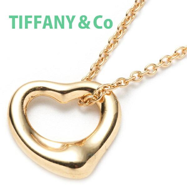 ティファニー Tiffany&Co ネックレス レディース ペンダント ミニ オープンハート スモール イエローゴールド 25152328