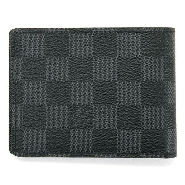 ルイヴィトン LOUIS VUITTON 財布 二つ折り財布 メンズ マネークリップ ポルトフォイユ ミルティプル ダミエグラフィット N62663
