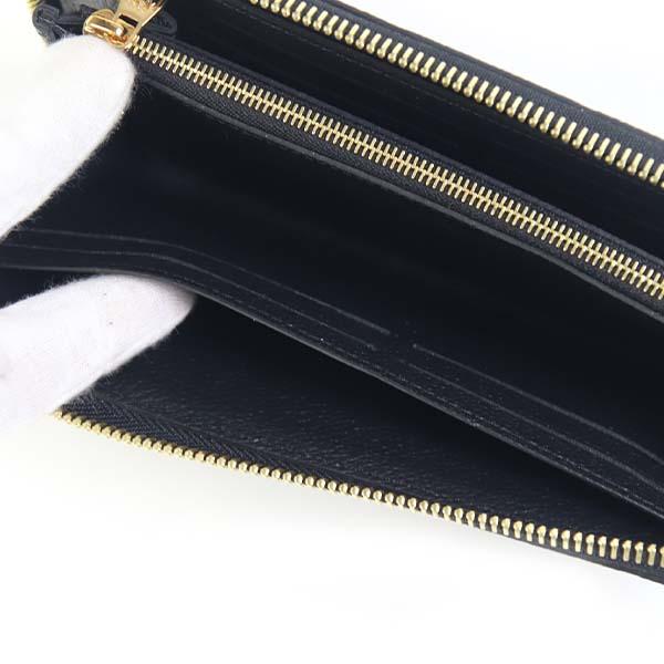 ルイヴィトン LOUIS VUITTON 財布 長財布 レディース ラウンドファスナー ポルトフォイユ・クレマンス モノグラム・アンプラントレザー ノワールブラック M60171