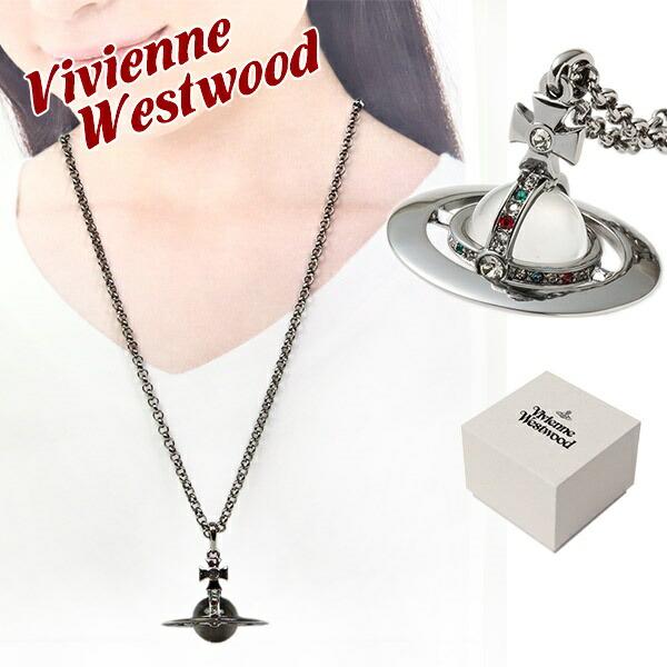 ヴィヴィアンウエストウッド Vivienne Westwood ネックレス メンズ レディース ペンダント スモールオーブペンダント ガンメタル 752106B/4 GUNMETAL