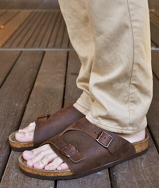 Gettry Birkenstock Zurich Terracotta And Natural Leather