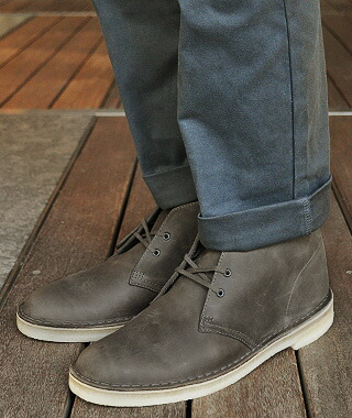 various design detailed pictures authorized site Clarks x Ronnie Fieg DESERT BOOT GREY LEATHER