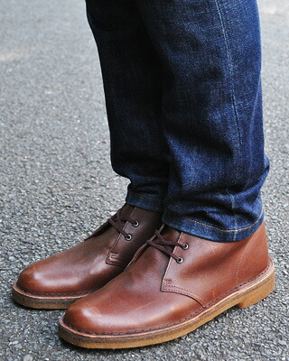 clarks desert boot brown vintage leather