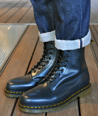 Navy Blue Dr Marten Shoes