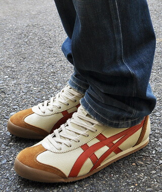 newest ff49a 7826e ◇Onitsuka Tiger MEXICO MID RUNNER ECRU / ORANGE