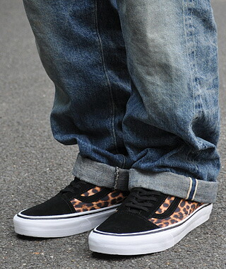 b4a09d3dec leopard vans old skool on feet