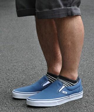 vans slip on navy
