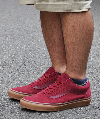 vans old skool gum sole red