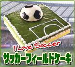 サッカーフィールドケーキ