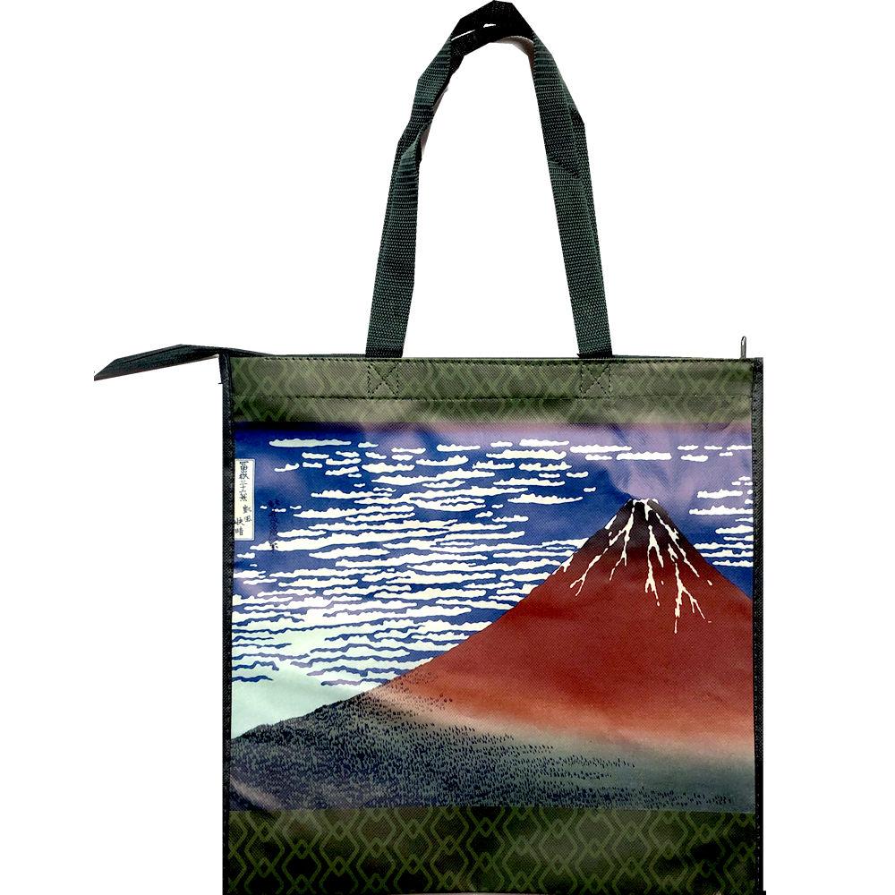 日本のお土産 スーベニアバッグ 葛飾北斎 赤富士