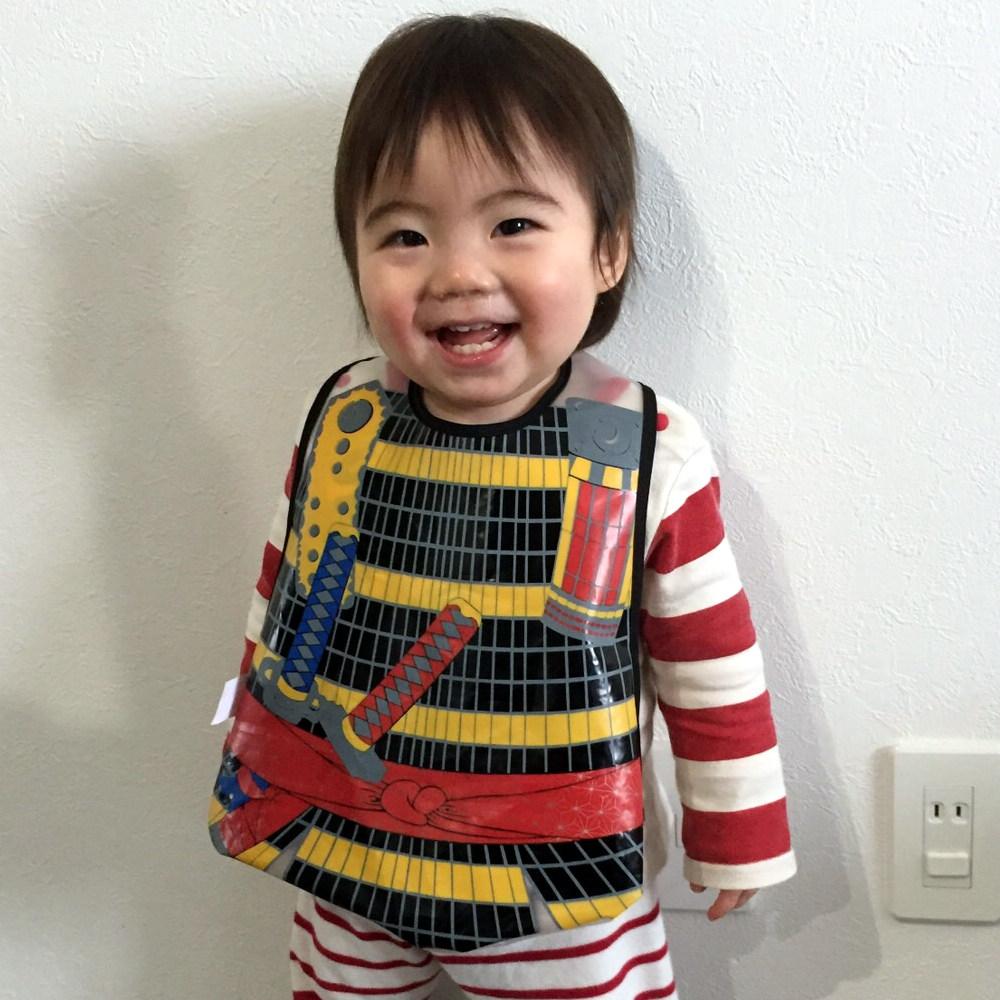 防水ビブ(ベビーエプロン) 将軍(コスプレ衣装) 男の子(ベビースタイ)