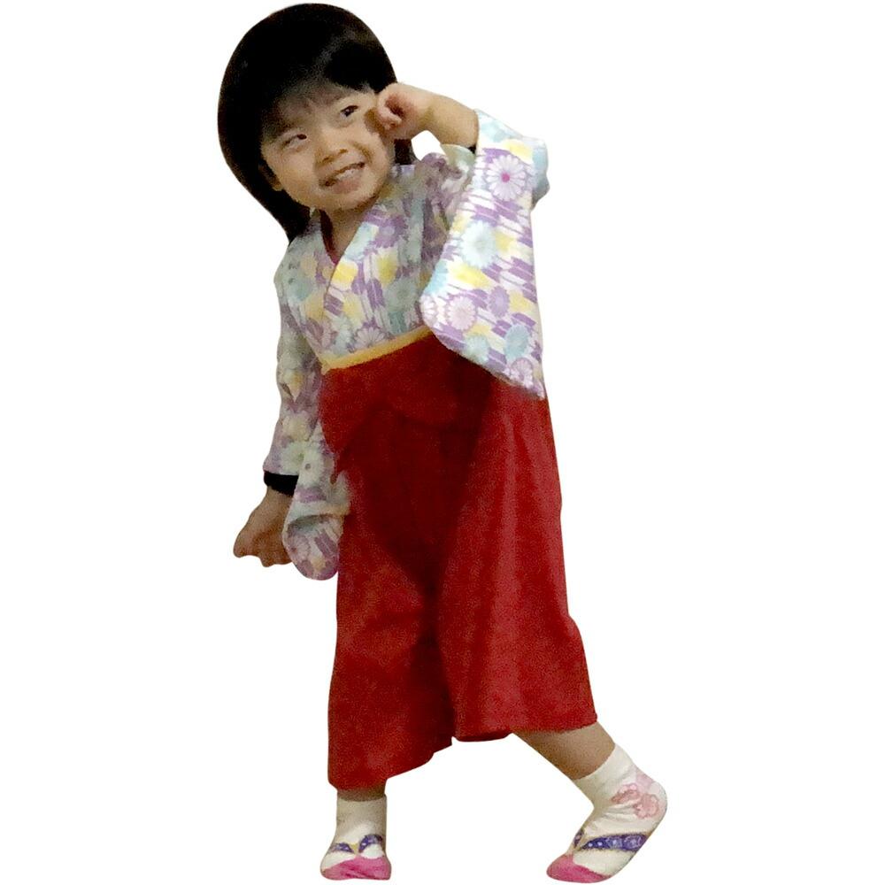 羽織袴カバーオール女の子用