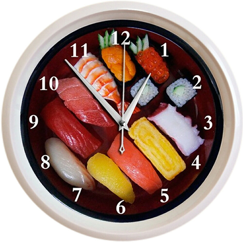 お寿司の壁掛け時計(おもしろ時計)