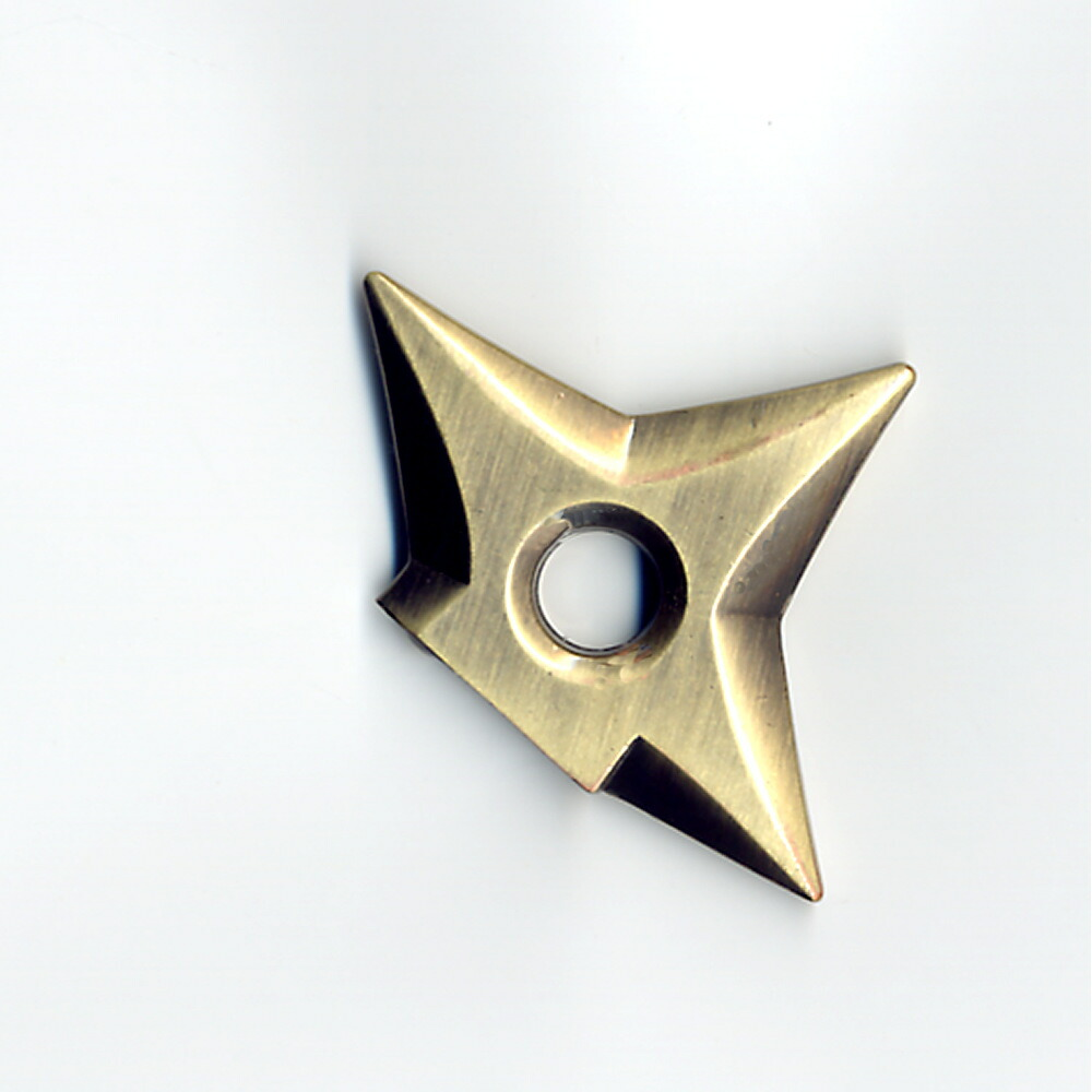 メタル手裏剣マグネット 金色(ブロンズ)