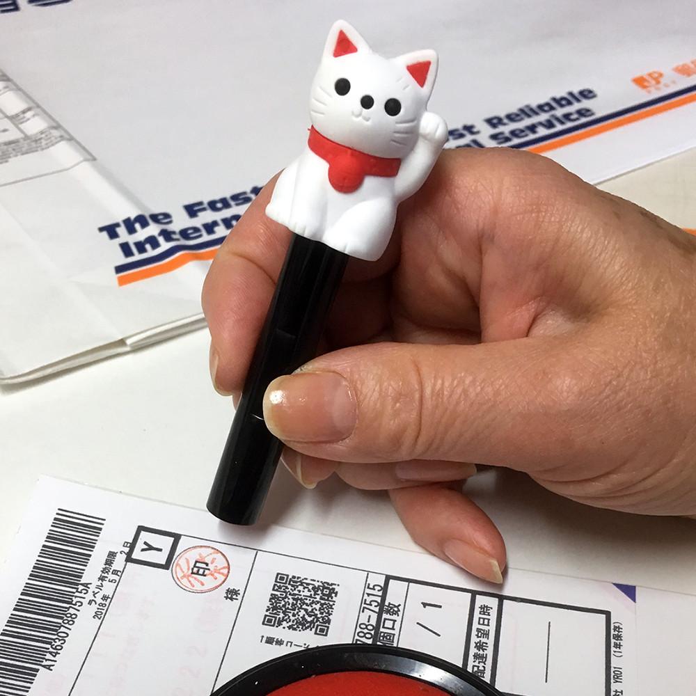 ミニ招き猫判子ホルダー