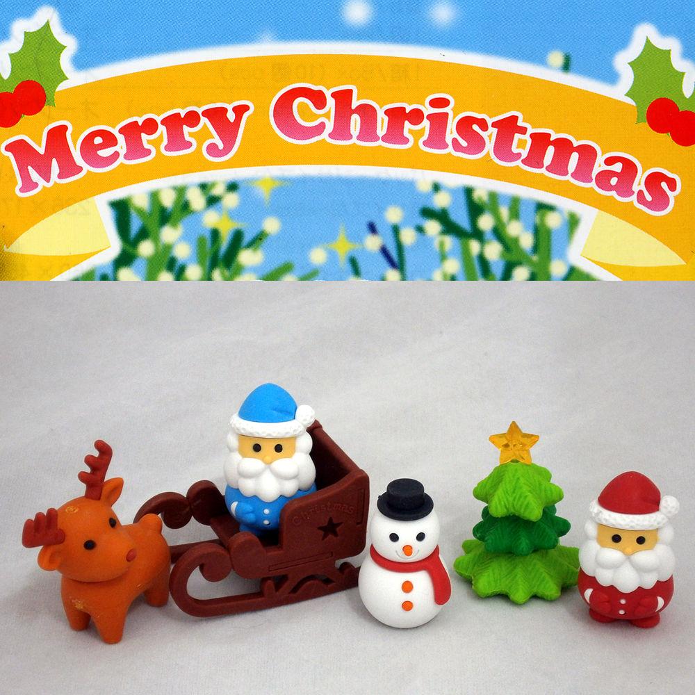 クリスマスのフィギュア消しゴム