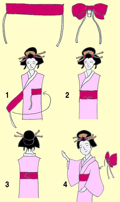 ワンタッチ 作り帯の結び方