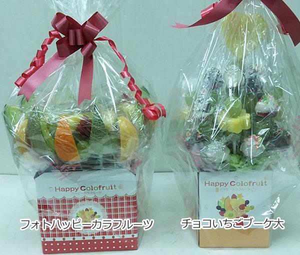 ハッピーカラフルーツ フルーツフラワー フォトハッピーカラフルーツ チョコいちごブーケ大