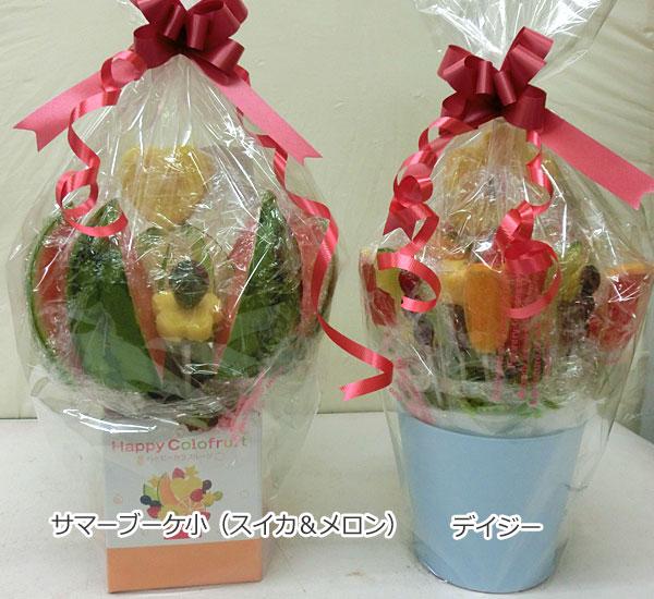 ハッピーカラフルーツ フルーツフラワー サマーブーケ小(スイカ&メロン) デイジー