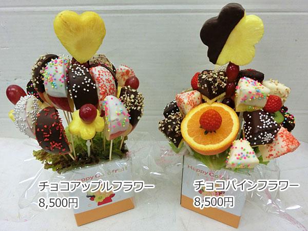 ハッピーカラフルーツ フルーツフラワー チョコアップルフラワー チョコパインフラワー