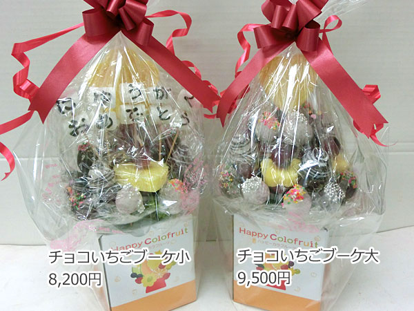 ハッピーカラフルーツ フルーツフラワー チョコいちごブーケ小 チョコいちごブーケ大
