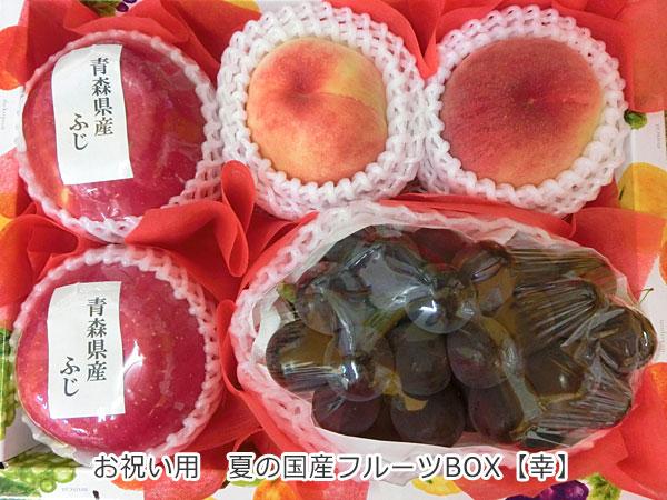 お祝い用 夏の国産フルーツBOX【幸】