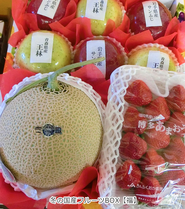 お祝い用 冬の国産フルーツBOX【福】