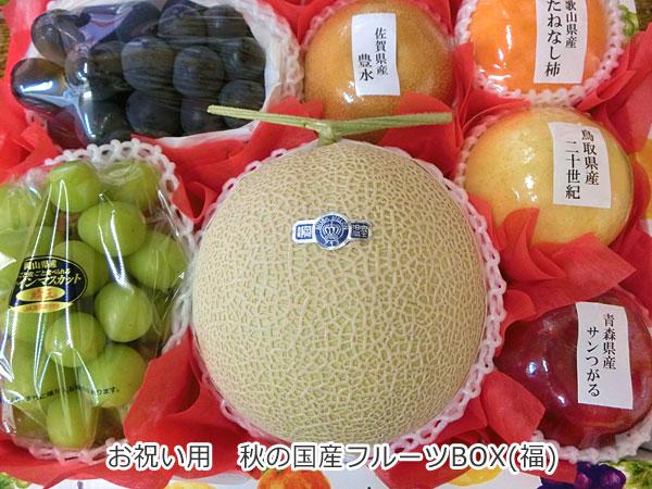 お祝い用 秋の国産フルーツBOX【福】