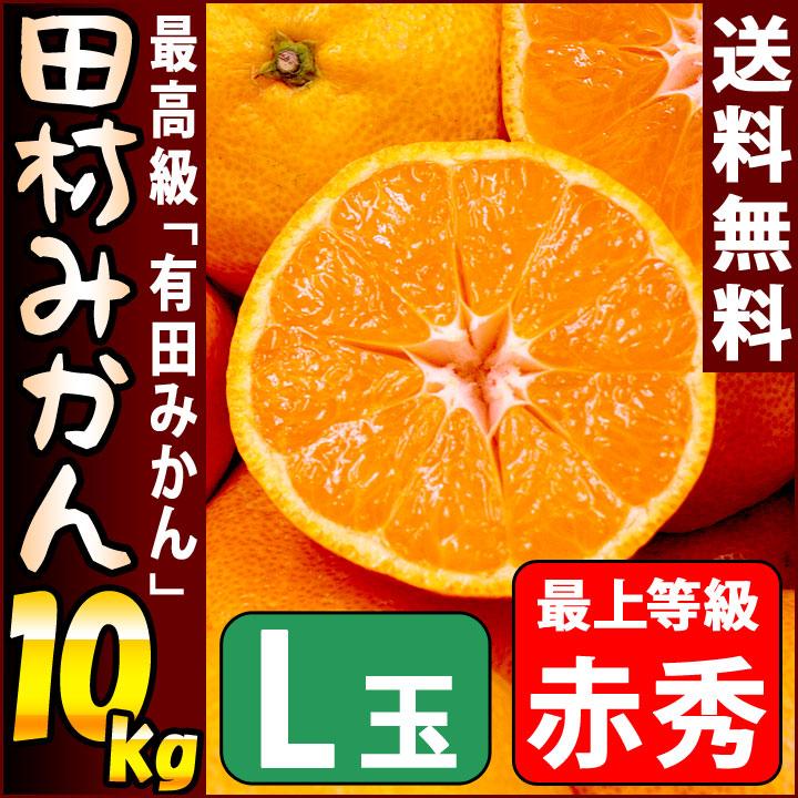 田村みかん 赤秀 10kg Lサイズ 約76個前後入り