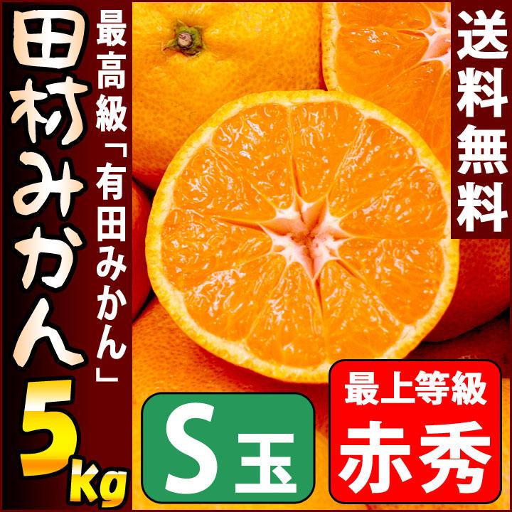 田村みかん 赤秀 5kg Sサイズ 約57個前後入り