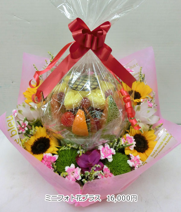 ハッピーカラフルーツ フルーツフラワー ミニフォト花プラス