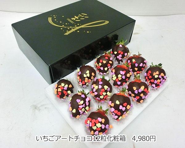 ハッピーカラフルーツ フルーツフラワー いちごアートチョコ12粒化粧箱
