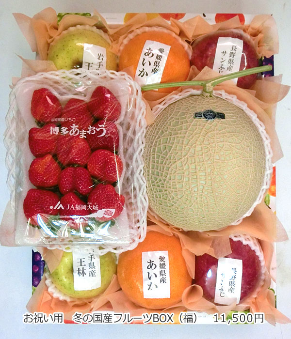 お祝い用 冬の国産フルーツBOX(福)