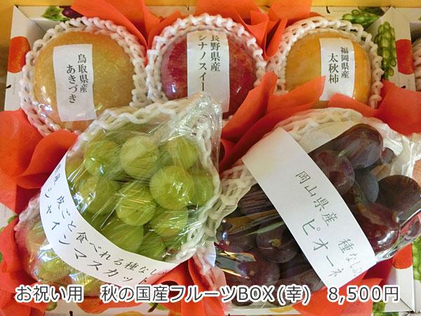 お祝い用 秋の国産フルーツBOX(幸)