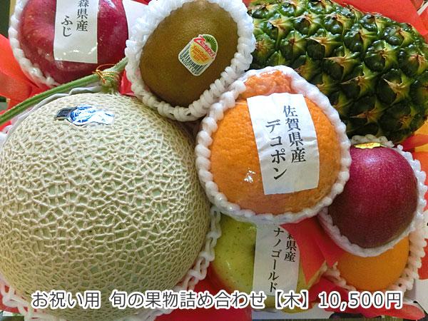 お祝い用 旬の果物詰め合わせ【木】