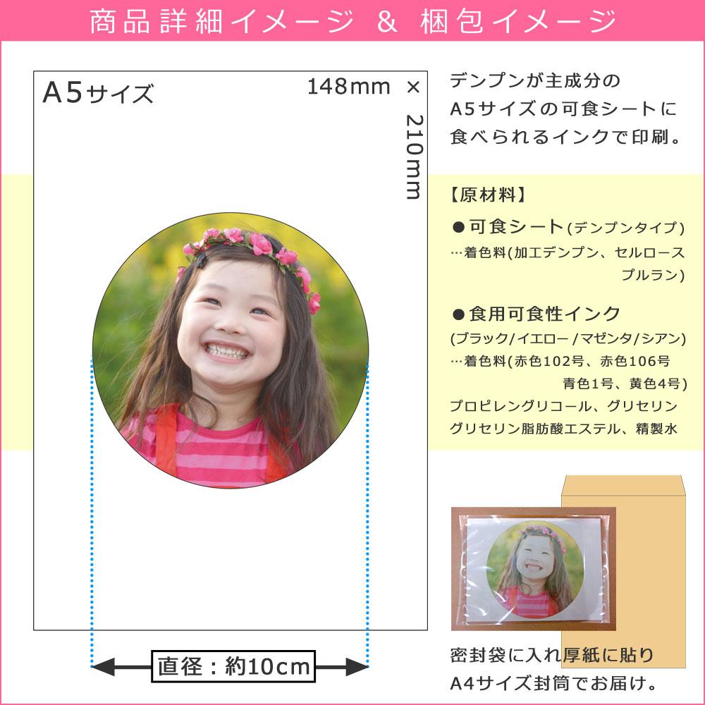 ケーキ用デコシート 商品詳細イメージ 梱包イメージ