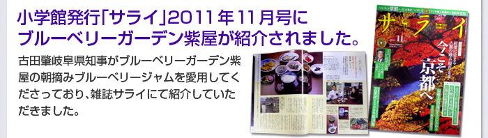 サライ2011年11月号に掲載されました
